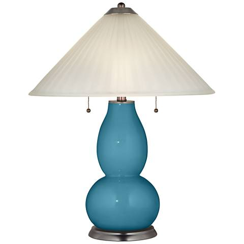 Great Falls Fulton Table Lamp with Fluted Glass Shade