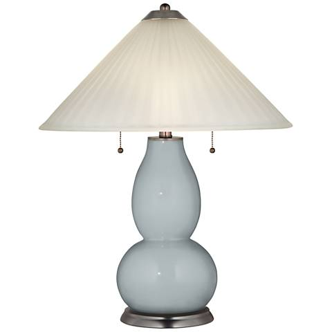 Uncertain Gray Fulton Table Lamp with Fluted Glass Shade