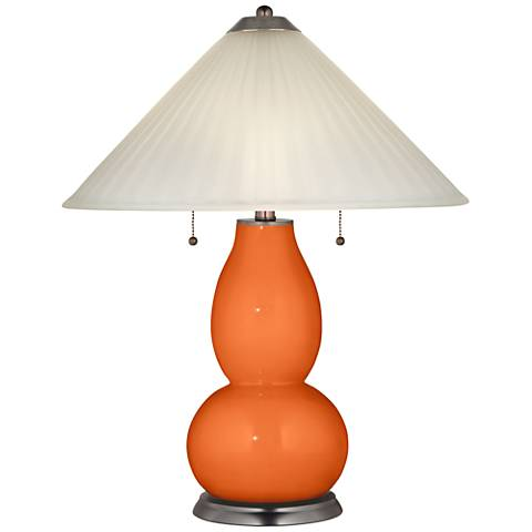 Invigorate Fulton Table Lamp with Fluted Glass Shade