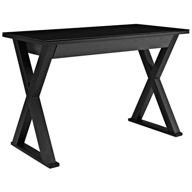 "Xtra 48"" Wide Black Finish Modern Computer Desk"