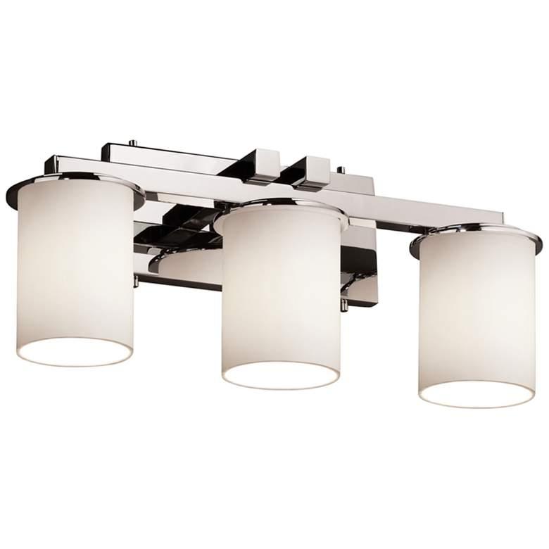 "Justice Design Dakota 29"" Wide Nickel 3-Light Bathroom Light"