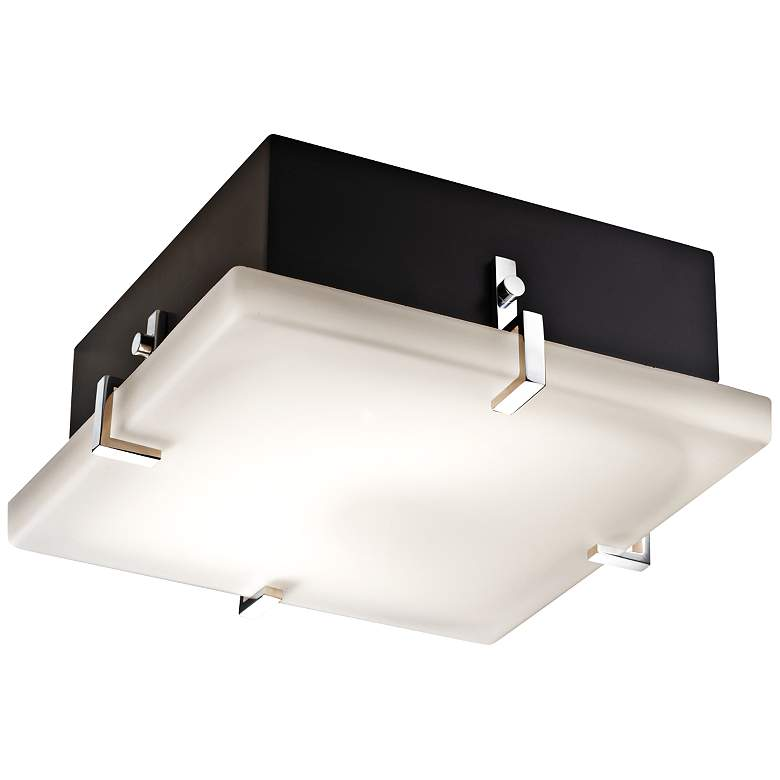 "Justice Design Clips 12 1/2"" Wide Matte Black Ceiling Light"