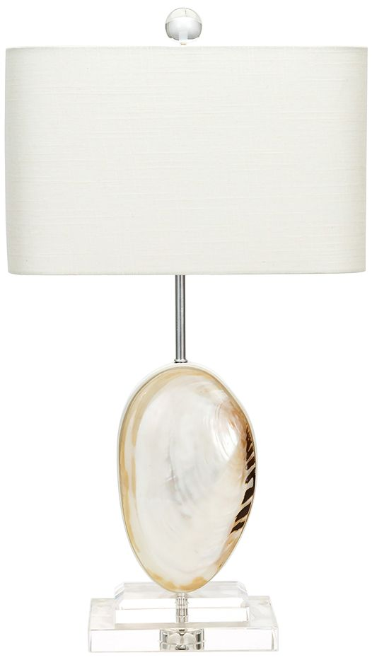 Wonderful Couture Oceanside Mother Of Pearl Table Lamp