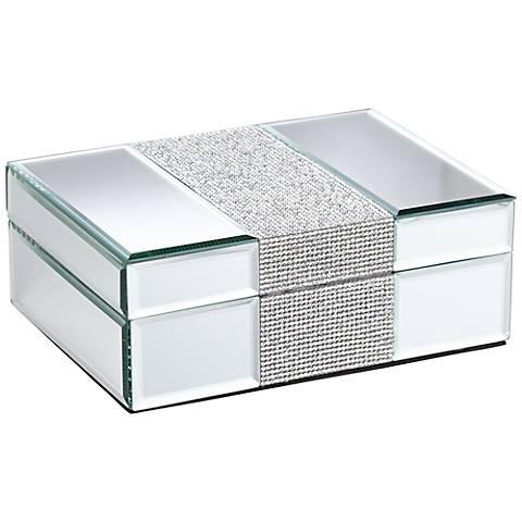 Lyza Rhinestone Mirrored Jewelry Box