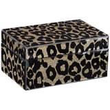 Golden Cheetah Black Jewelry Box