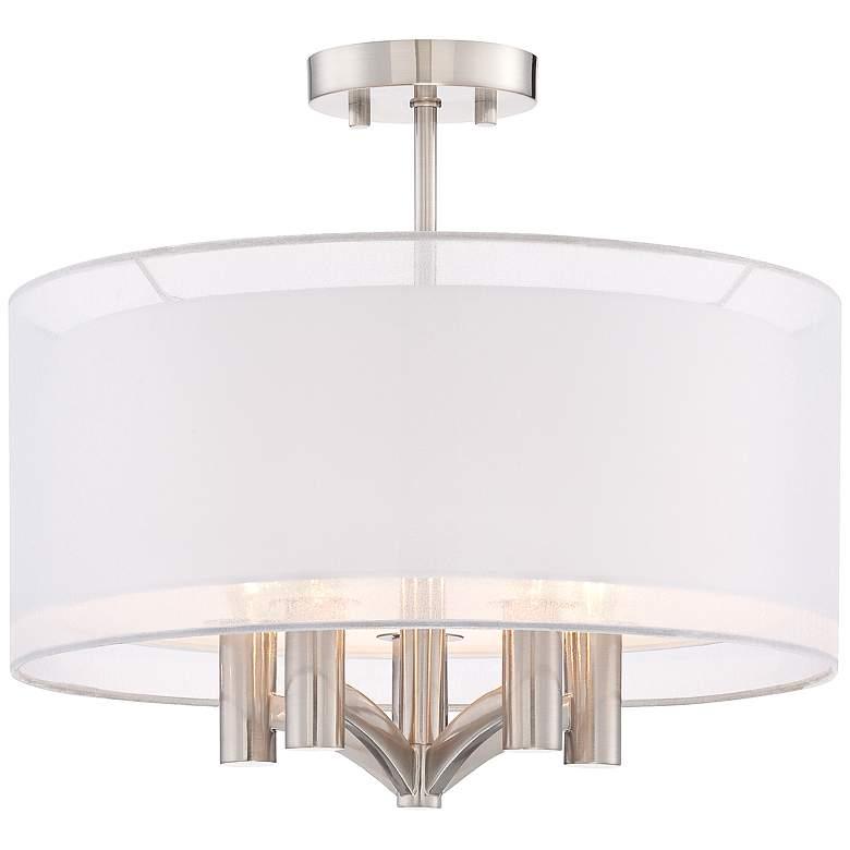 "Caliari 18"" Wide Brushed Nickel 5-Light Ceiling Light"