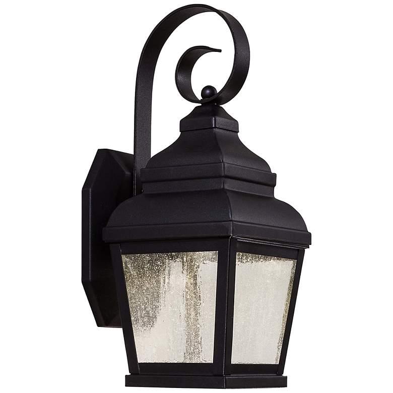 "Mossoro 14 1/4"" High Black LED Outdoor Wall Light"