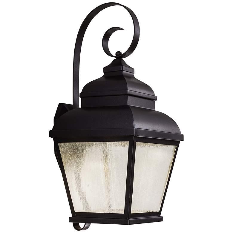 "Mossoro 22 3/4"" High Black LED Outdoor Wall Light"