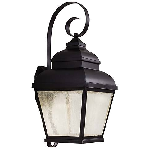 "Mossoro 22 3/4"" High Black LED Outdoor Wall Light"