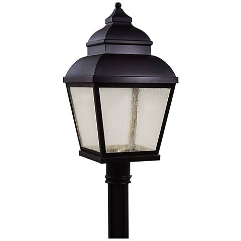 "Mossoro 23 1/2"" High Black LED Outdoor Post Light"