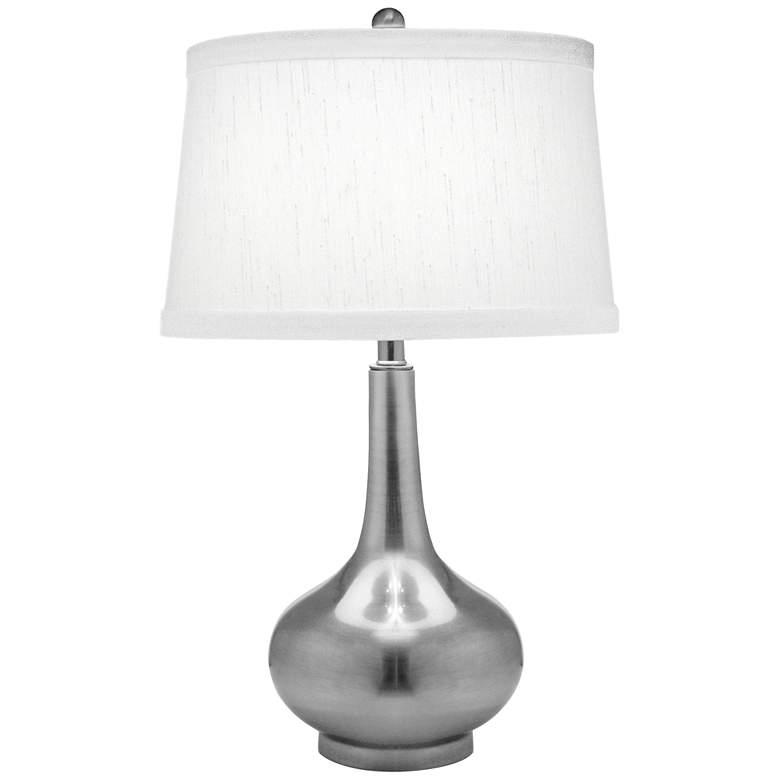 Stiffel Antique Nickel Genie Bottle Table Lamp