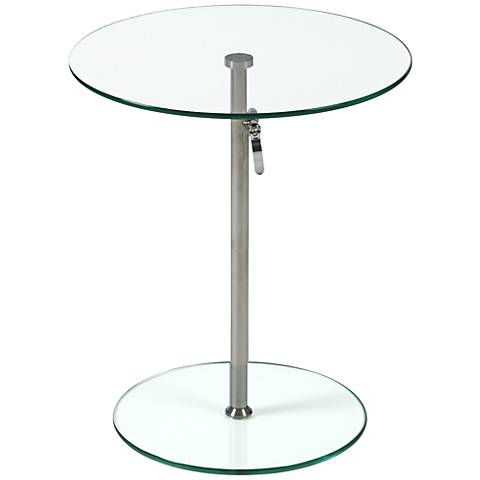 Radinka Adjustable Clear Glass Side Table