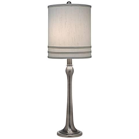 Stiffel Modern Antique Nickel Table Lamp