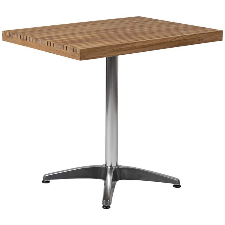 Sam Teak Top Aluminum Dining Table
