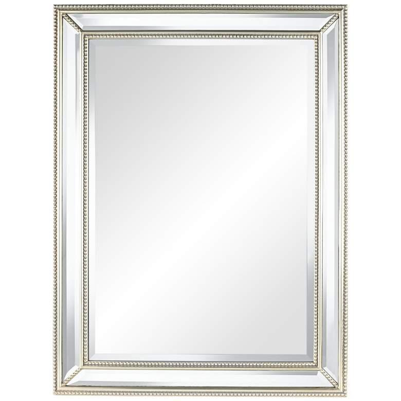"Uttermost Palais Silver 30"" x 40"" Beaded Wall Mirror"
