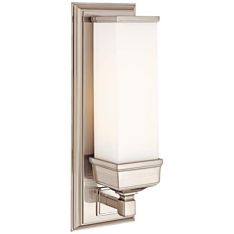 """Everett Nickel 14 1/4"""" High Matte Opal Glass Wall Sconce"""