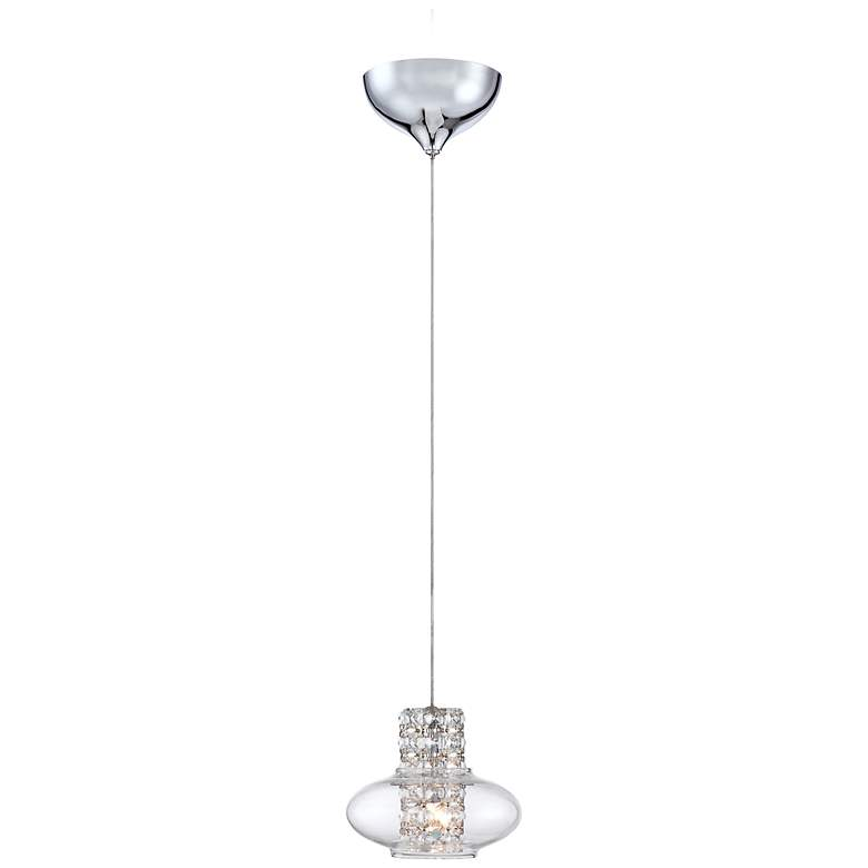 "Possini Euro Vidrio 5 1/2"" Wide Modern Crystal Mini Pendant"