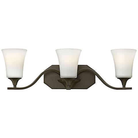 "Hinkley Brantley 24 1/4""W Olde Bronze 3-Light Bathroom Light"