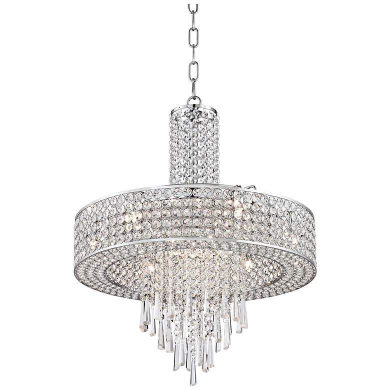 "Crystal Cascade 19 3/4"" Wide Crystal Pendant Chandelier"