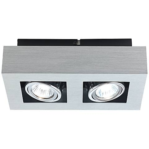 Eglo Loke 2-Light Brushed Aluminum Track Fixture