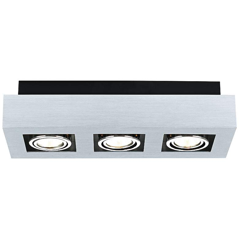 Eglo Loke 3-Light Brushed Aluminum Track Fixture