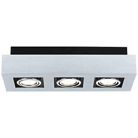 Eglo Loke 3-Light Brushed Aluminum Track Fixture