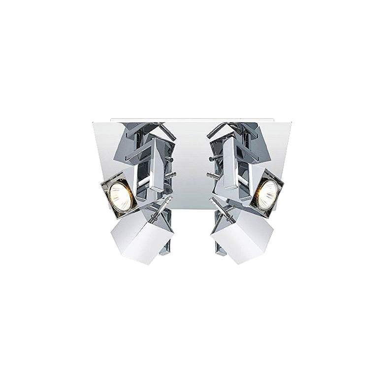 Eglo Manao 4-Spot Chrome Square Track Light Fixture