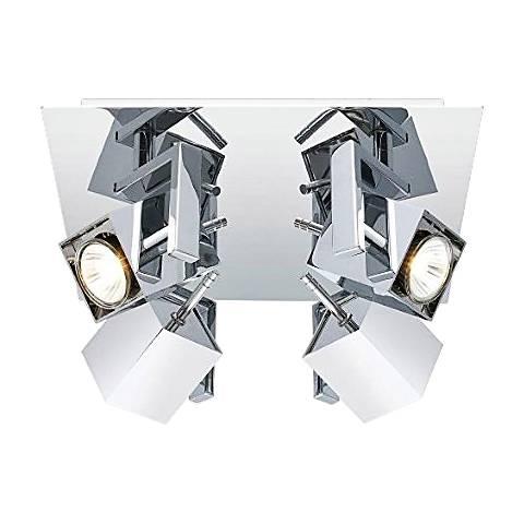 Eglo Manao 4-Spot Chrome Square Track Light Fixture