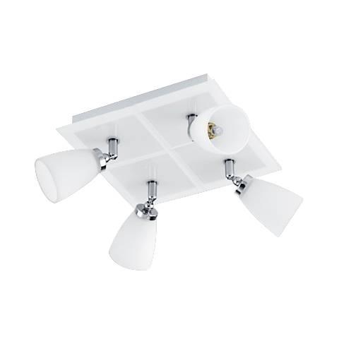 Eglo Katoro White Glass 4-Spot Square Track Light Fixture