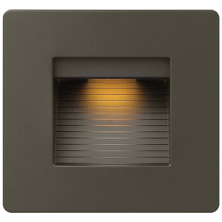 "Hinkley Luna 4 1/2"" Square Bronze LED Step Light"
