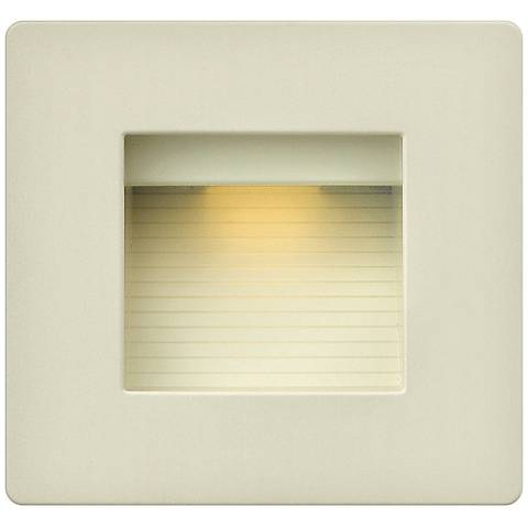 "Hinkley Luna 4 1/2"" Square Light Almond LED Step Light"