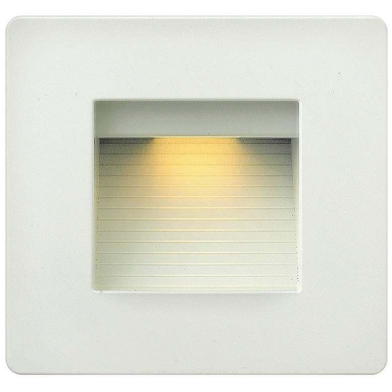 "Hinkley Luna 4 1/2"" Square Satin White LED"