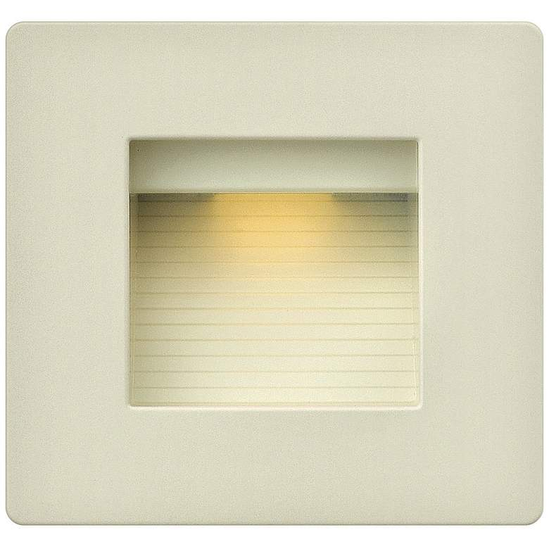 "Hinkley Luna 4 1/2"" Square Titanium LED Step"
