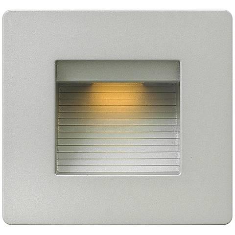 "Hinkley Luna 4 1/2"" Square Titanium LED Step Light"