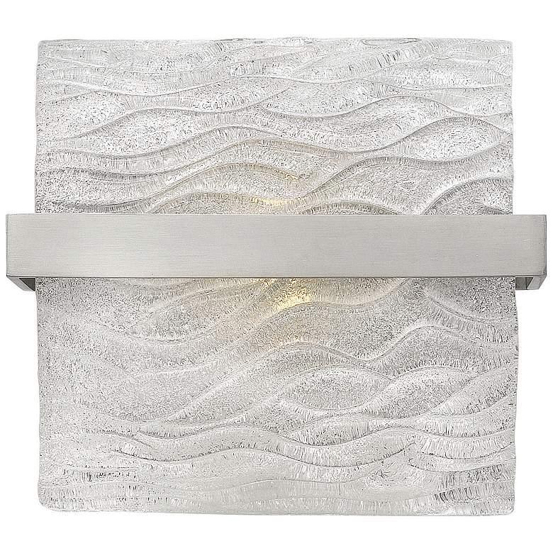 """Hinkley Chloe 8 1/2"""" Wide Brushed Nickel Bath Light"""