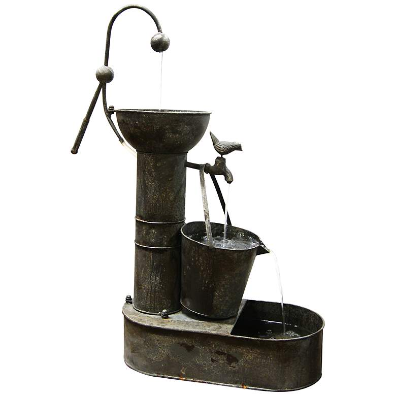 "Ashbridge Tiering Tin 33"" High Fountain"