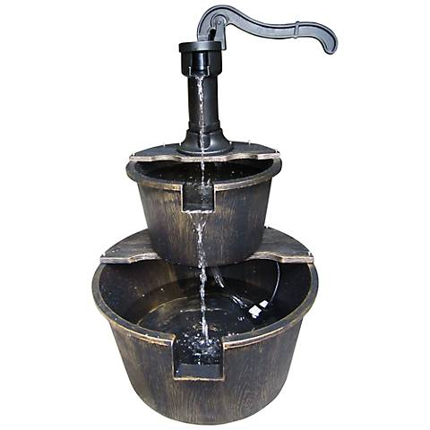 "Clifton Two Tier Pump & Barrel 27"" High Fountain"