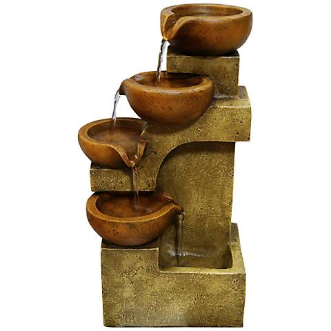 "Josselin Tiering Pots 17"" High Fountain"