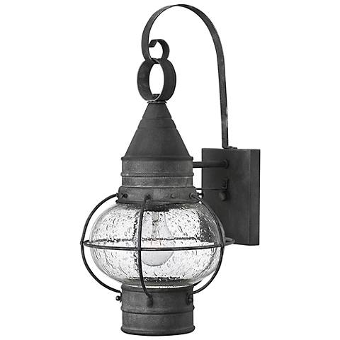 "Hinkley Cape Cod 18"" High Aged Zinc Outdoor Wall Light"