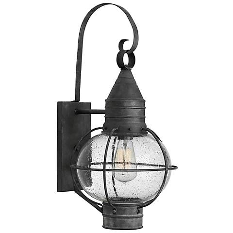 "Hinkley Cape Cod 23 1/4"" High Aged Zinc Outdoor Wall Light"