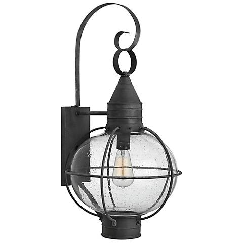 "Hinkley Cape Cod 26 3/4"" High Aged Zinc Outdoor Wall Light"