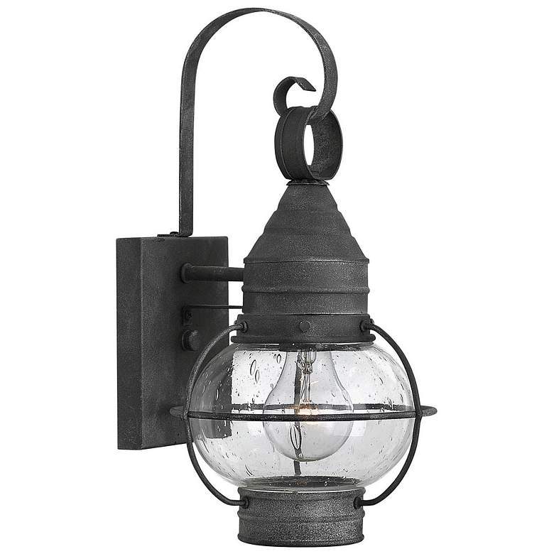 Hinkley Cape Cod 14 High Aged Zinc Outdoor Wall Light