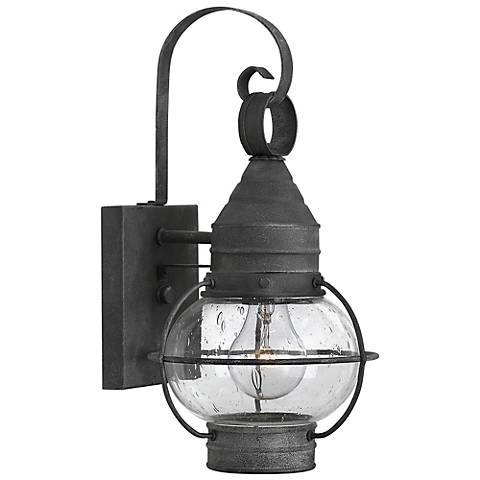 "Hinkley Cape Cod 14"" High Aged Zinc Outdoor Wall Light"