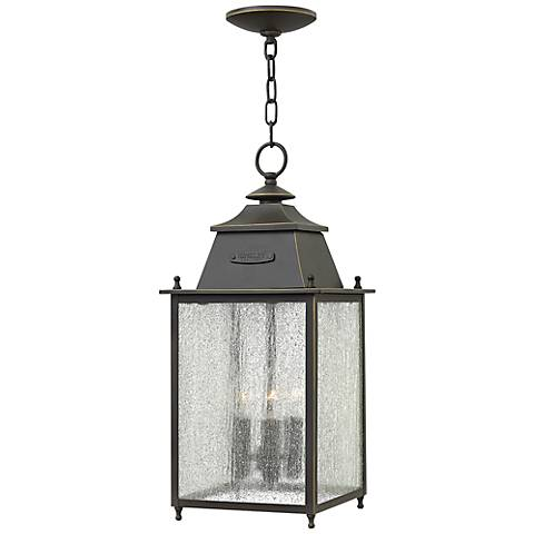 "Chatfield 9"" Wide Oil Rubbed Bronze Outdoor Hanging Light"