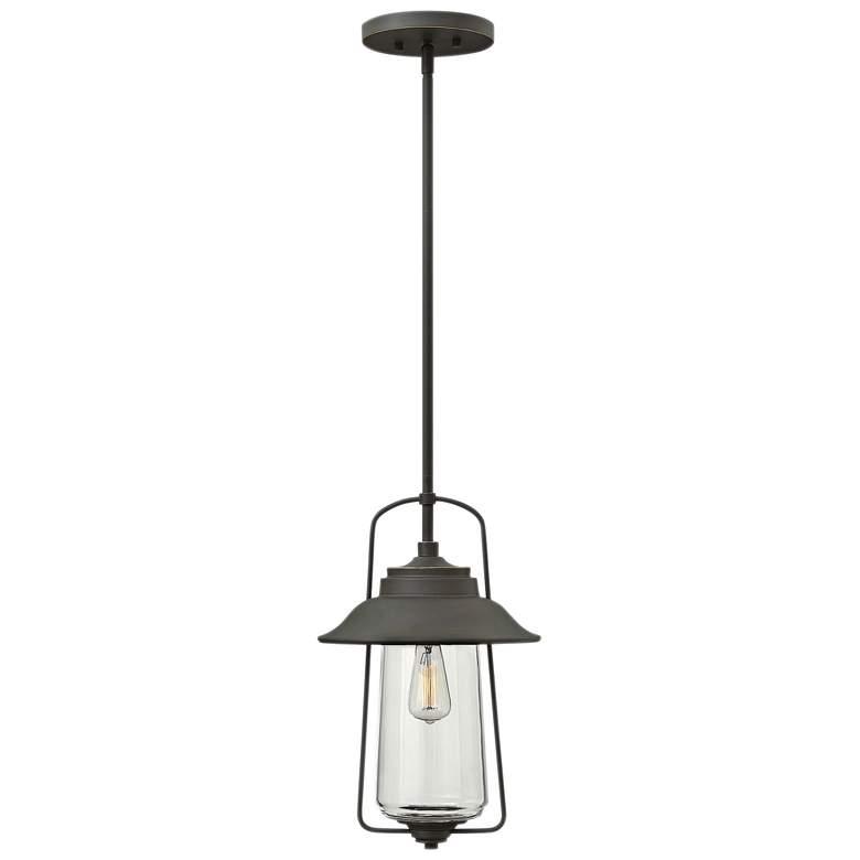 """Hinkley Beldenplace 10"""" Wide Bronze Outdoor Hanging Light"""