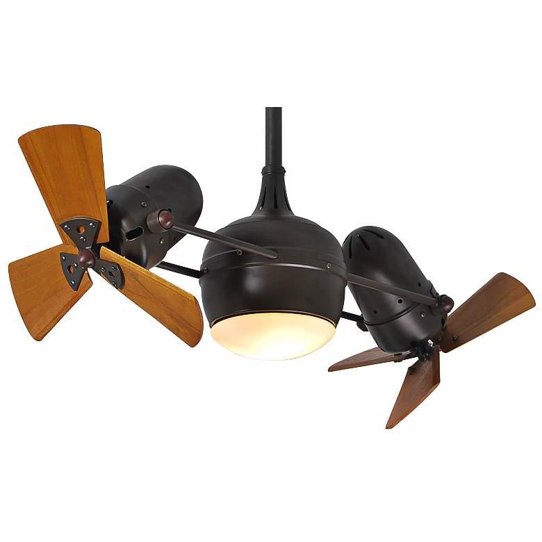 "41"" Matthews Dagny Mahogany Lighted Dual Ceiling Fan"
