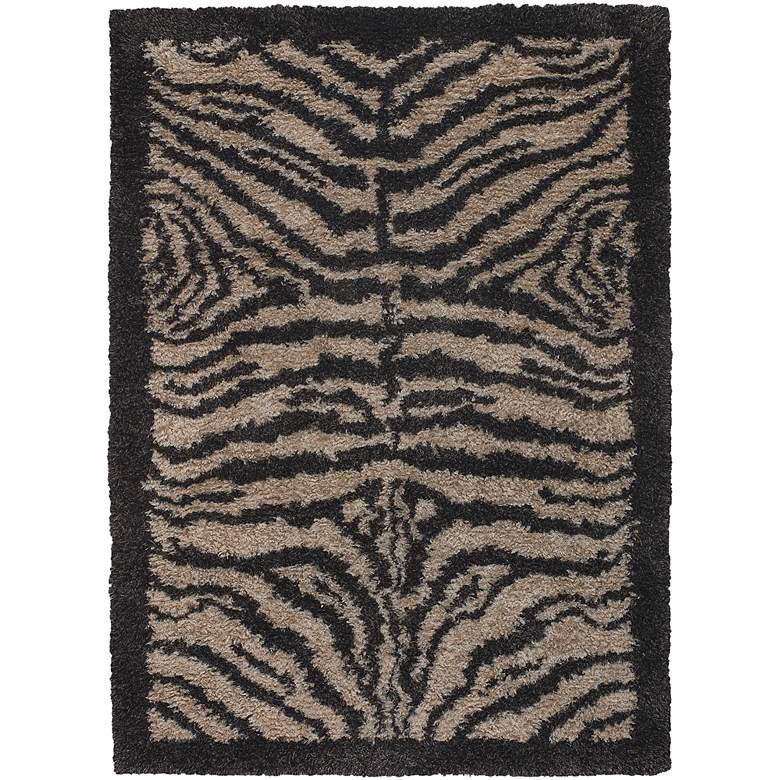 """Chandra Amazon AMA5600 5'x7'6"""" Black and Tan Zebra Area Rug"""