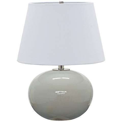"""House of Troy Scatchard Stoneware 22"""" High Gray Table Lamp"""