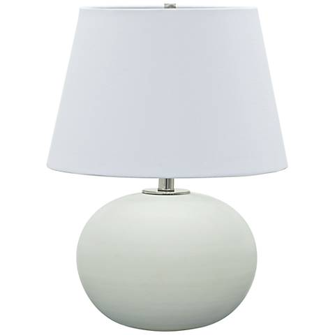 "House of Troy Scatchard Stoneware 22"" High White Table Lamp"