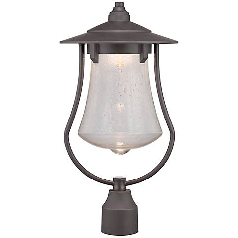 "Paxton 19 1/4"" High Bronze Patina LED Outdoor Post Light"
